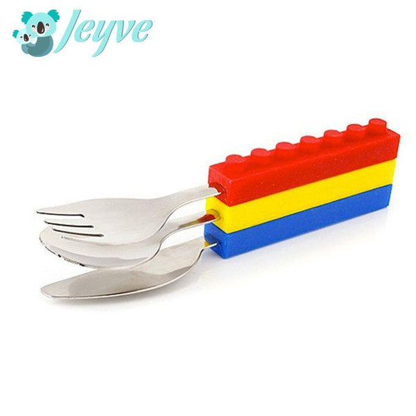 Kids' Interlocking Brick Cutlery - Jeyve.com
