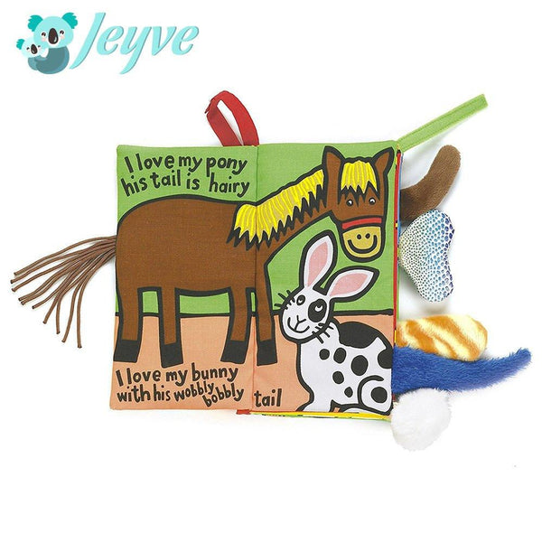 Animal Tails Cloth Activity Book - Jeyve.com