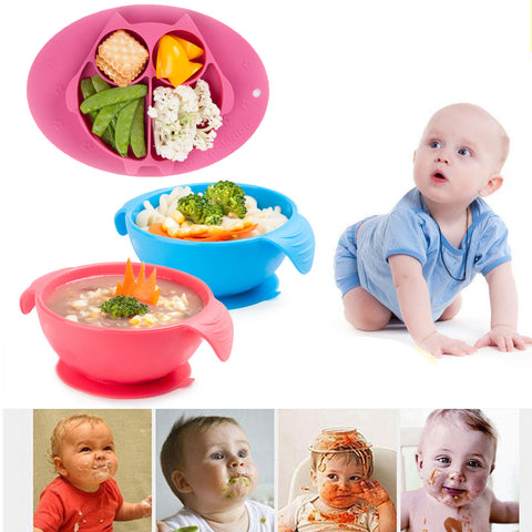 Happy Silicone Dinnerware