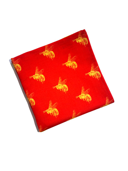 Bee [YellowRed] Napkins (set of two)