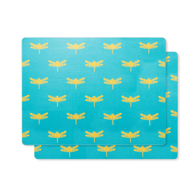 Dragonfly [YellowCadetBlue] Placemats (set of two)