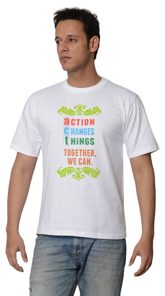 My Indian Dream Men's Inspirational T-Shirt(Together) (White)