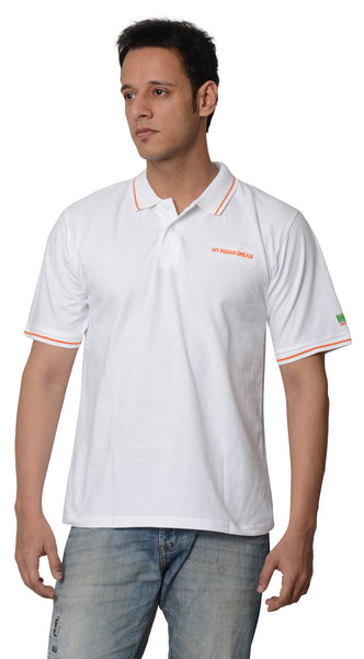 My Indian Dream Men's Premium Polo (White)