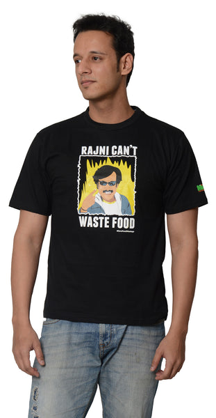 My Indian Dream Men's Inspirational T-Shirt(Rajnikant) (Black)