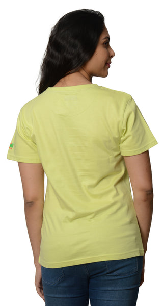 My Indian Dream Women's Inspirational T-Shirt(Yog) (Green)