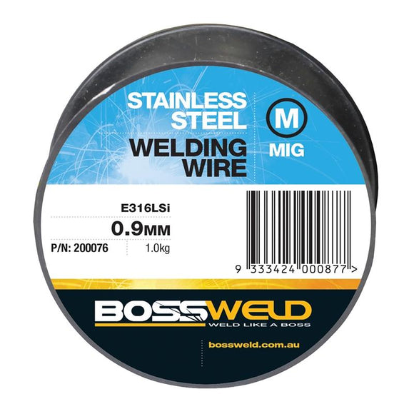 Bossweld Mig Wire Stainless Steel - 0.9mm x 1kg