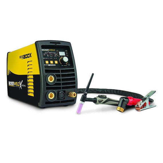 Bossweld X Series 200A AC/DC Pulse TIG Welder with 15amp Plug