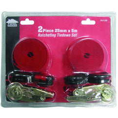 Tool House 2Pc Ratchet Tie Down Set