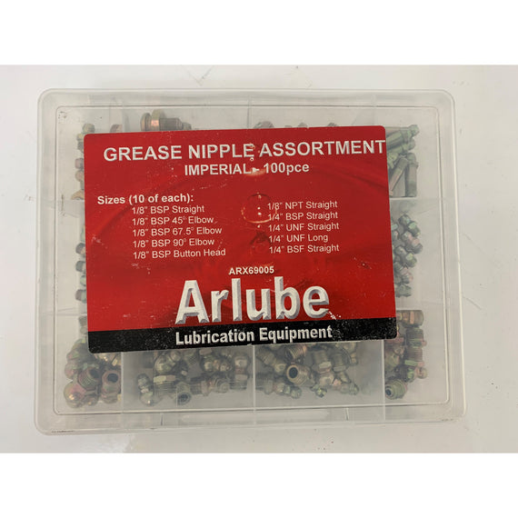 Grease Nipple Assortment 100 Piece Imperial