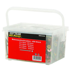 Team Mechanix 490Pc Robertson Screw Assortment