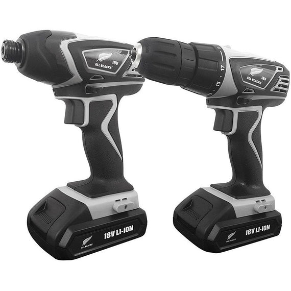 ALL BLACKS - 2pc 18V Lithium-Ion Cordless Drill & Impact Driver-Power Tools-Herbos Equipment Limited-Herbos Equipment Limited