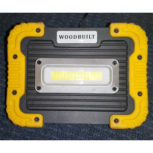 WOODBUILT Rechargeable LED Work Light with Power Bank USB Port
