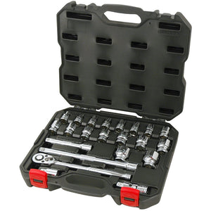 "POWERBUILT 1/2"" Dr 23pc Metric Socket Set-Socket Set-Powerbuilt-Herbos Equipment Limited"