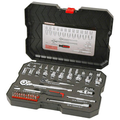 Powerbuilt 1/4Dr 3/8Dr 53Pc Metric Socket Set