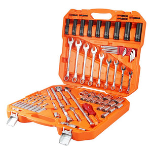 "POWERBUILT 1/4"" Dr, 1/2"" Dr 81pc Metric Tradie Tool Set-Hand Tools-Powerbuilt-Herbos Equipment Limited"