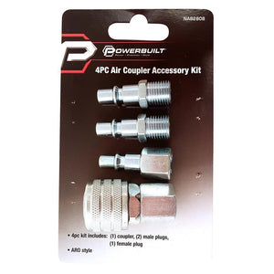 Powerbuilt 4Pc Aro Air Coupler Accessory Kit