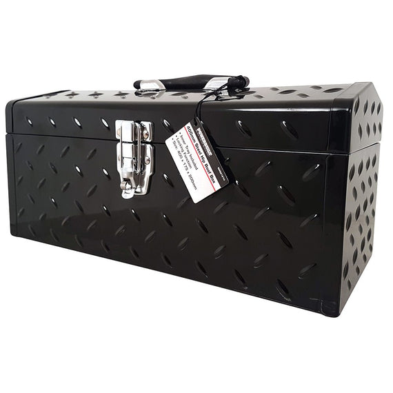 "POWERBUILT 16"" Portable Steel Tool Box-Tool Box-Powerbuilt-Herbos Equipment Limited"