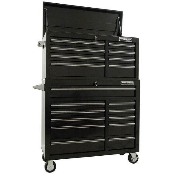 "POWERBUILT 2pc COMBO 41"" Roller Cabinet - Racing Series-Tool Box-Powerbuilt-Herbos Equipment Limited"