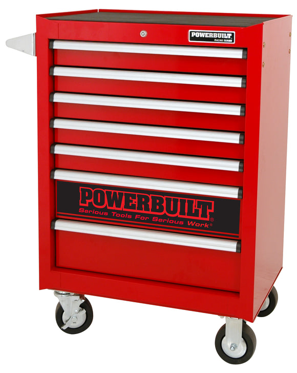 Powerbuilt 7 Drawer Roller Cabinet Racing Red