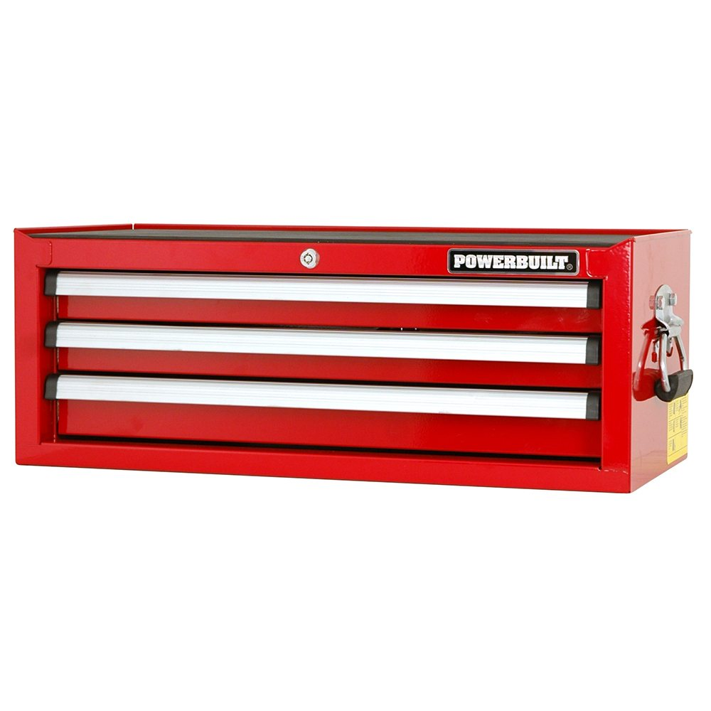 POWERBUILT 3 Drawer Tool Chest Racing Series-Herbos Equipment