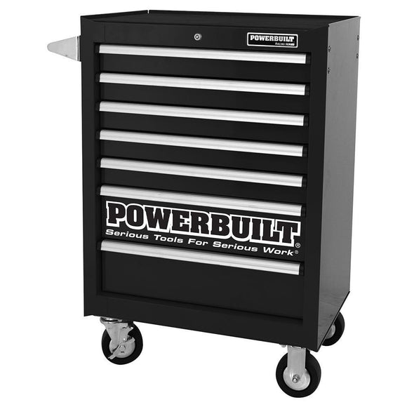 Powerbuilt 7 Drawer Roller Cabinet Racing Black