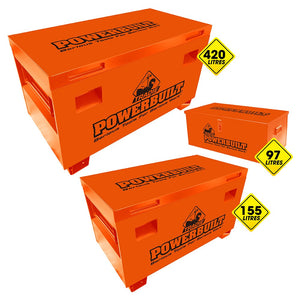 Powerbuilt Tradie Site Storage Box 3pc Nest Set-Tool Box-Powerbuilt-Herbos Equipment Limited