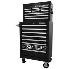 Powerbuilt 2Pc Combo Storage 9Dr Chest 7Dr Roll Cab Black