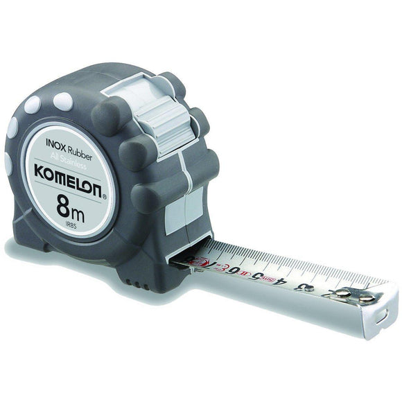 KOMELON INOX Rubber/Stainless 8x25mm-Tape Measure-Komelon-Herbos Equipment Limited