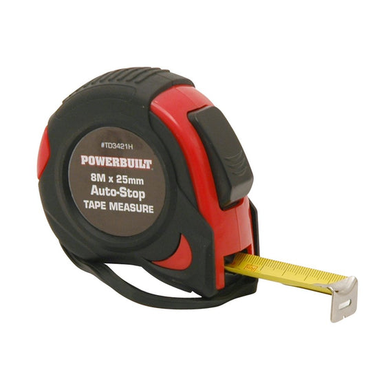 POWERBUILT 8M Auto-Stop Tape Measure-Tape Measure-Powerbuilt-Herbos Equipment Limited