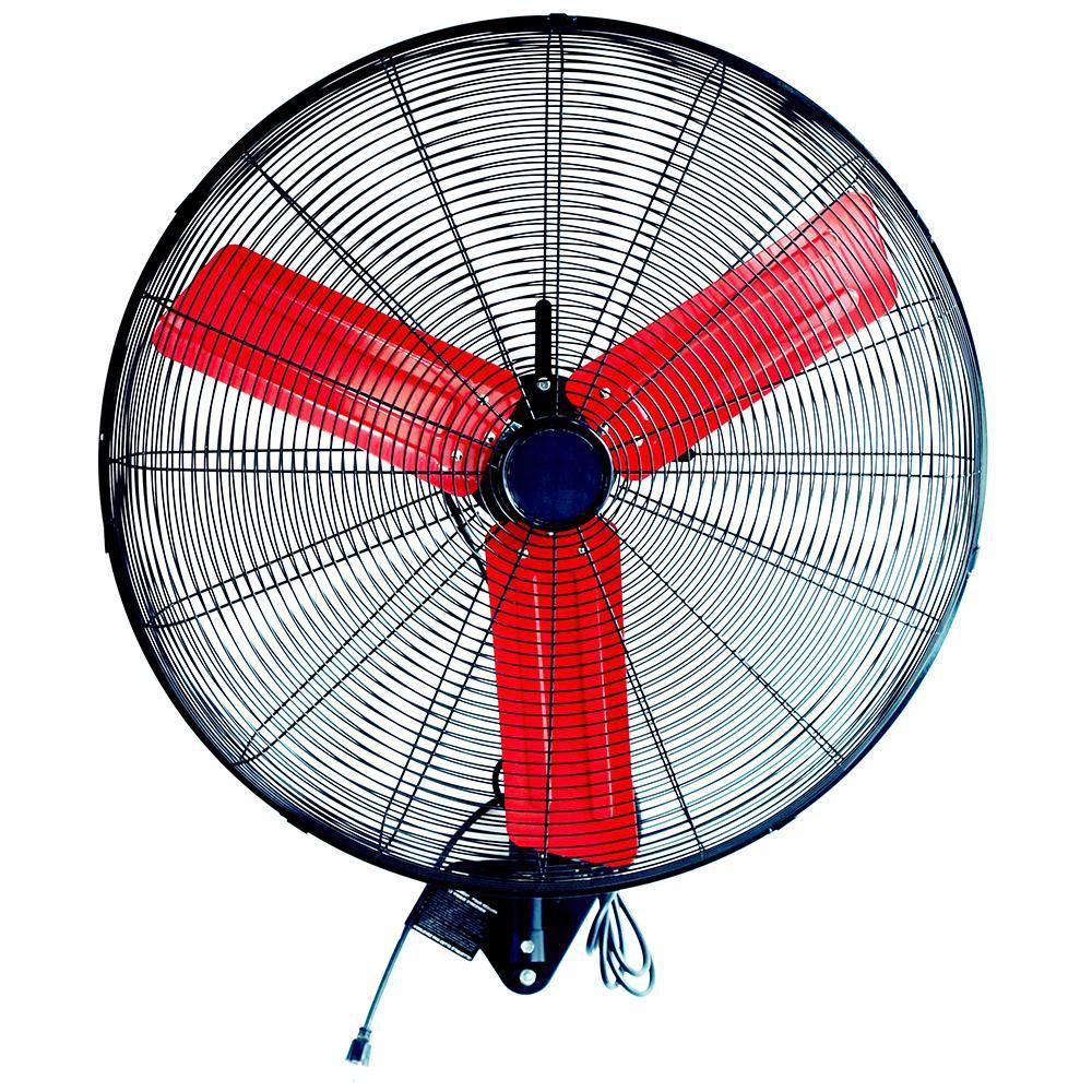 Powerbuilt 76Cm High Velocity Wall-Mounted Fan