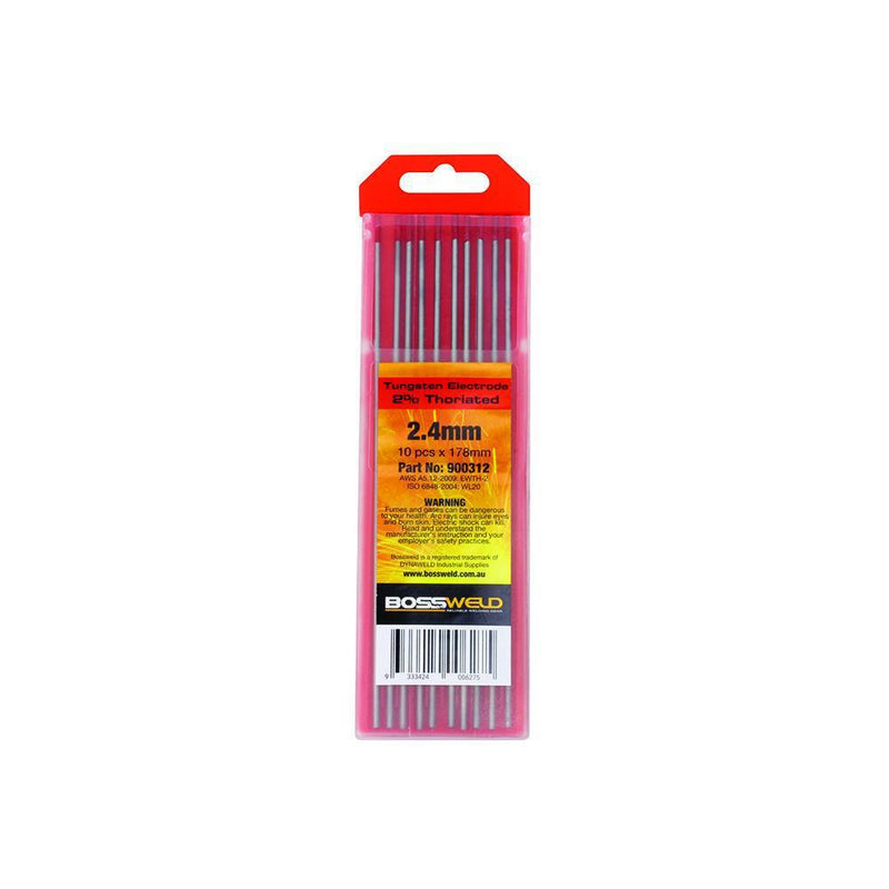 Bossweld Electrode Tungsten 2% Thoriated - 3.2mm x 178mm 10pk