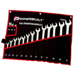 Powerbuilt 16Pc Metric R&Oe Fully Polished Spanner Set