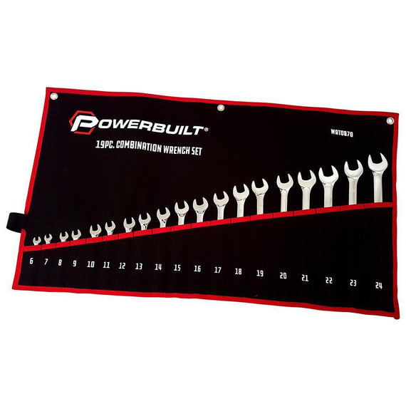 Powerbuilt 19Pc Metric R&Oe Fully Polished Spanner Set
