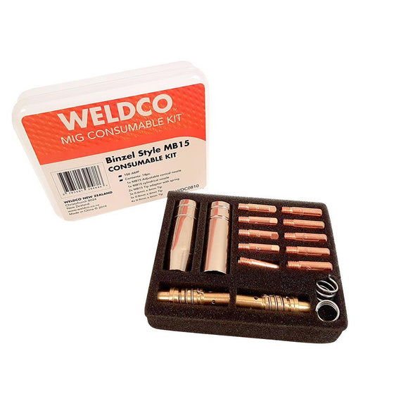 Weldco MIG Torch Consumable Kit - Binzel Style MB15
