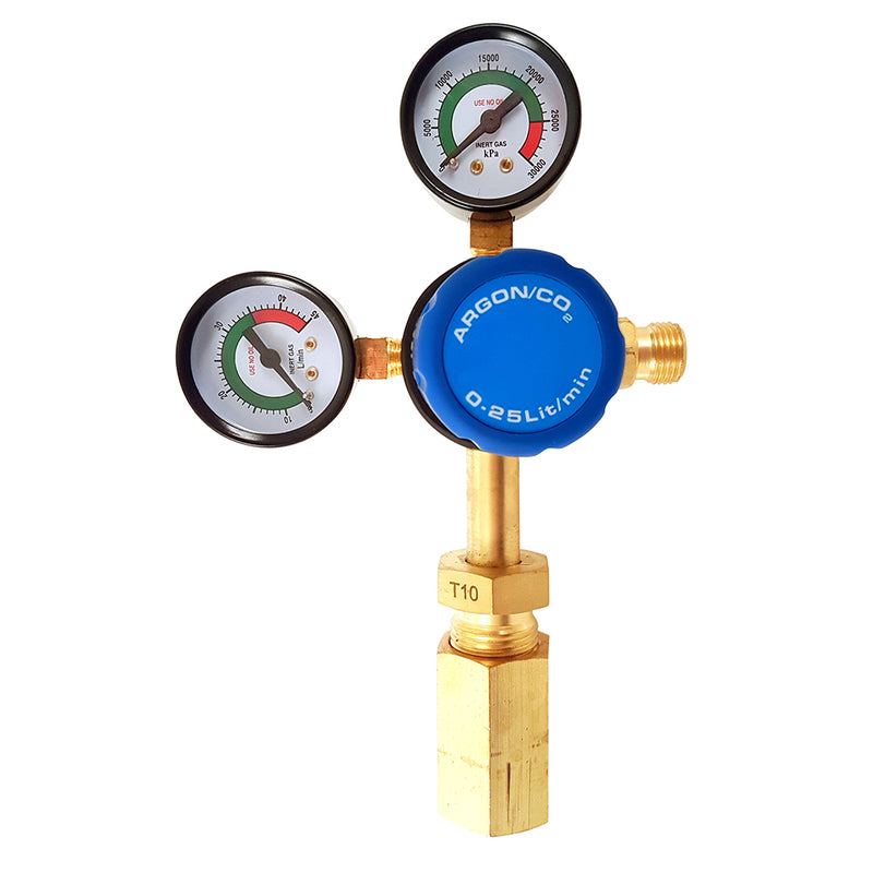 TIG Torch (Valve)  WP17 Style with Twin Stage Argon Regulator