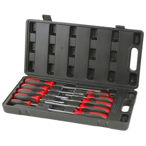 Powerbuilt 10Pc Screwdriver Set Racing Series
