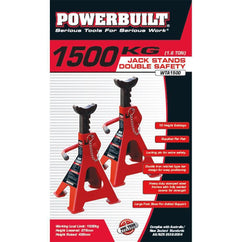 Powerbuilt 1.6Ton / 1500Kg Jack Stands (Dbl Safety)