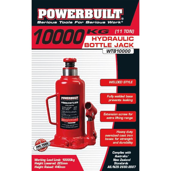 Powerbuilt 11Ton / 10000Kg Bottle Jack