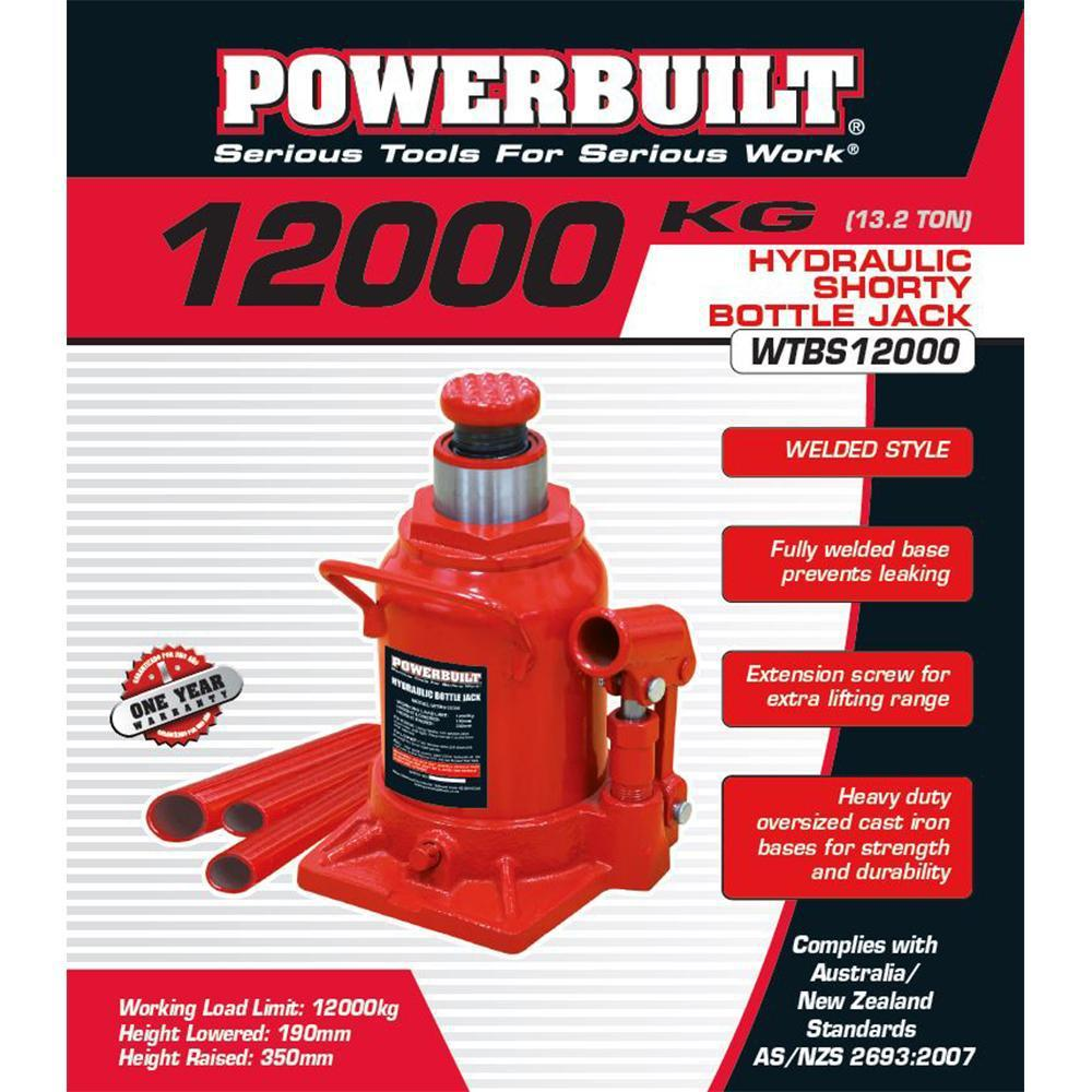Powerbuilt 13.2Ton / 12000Kg Shorty Bottle Jack