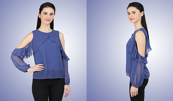 This summer welcome the heat with merriment, by embracing yourself in cool blue's!