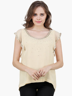 Yellow Embellished Top - MissGudi