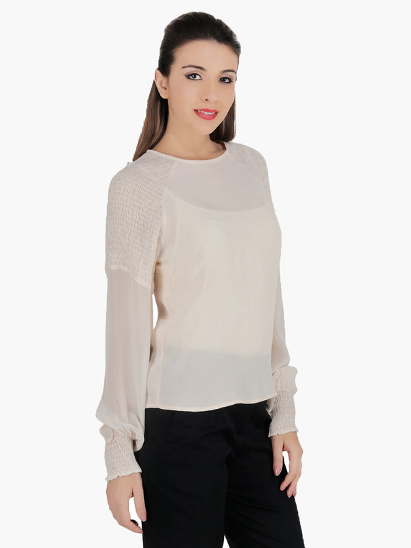 Georgette Full Sleeve Top - MissGudi