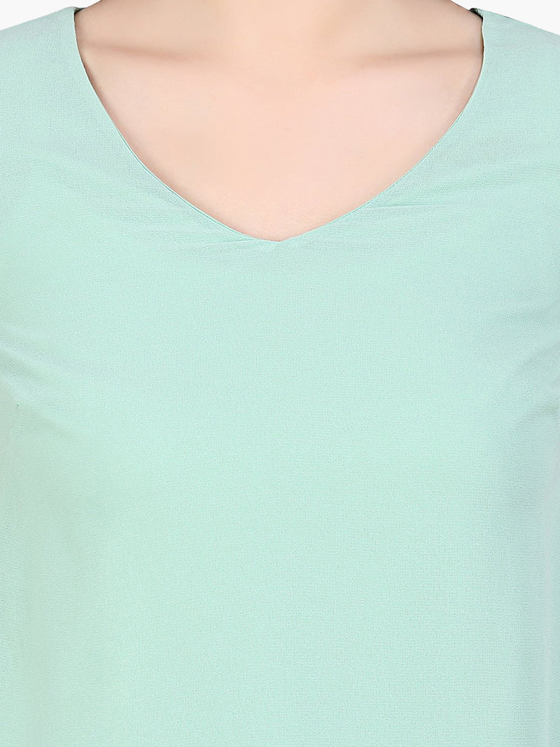 Sea Green Georgette Top - MissGudi