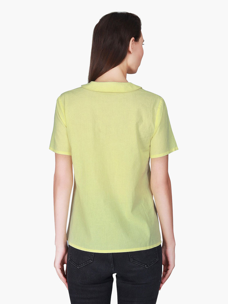 Yellow Cotton Woman Top - MissGudi