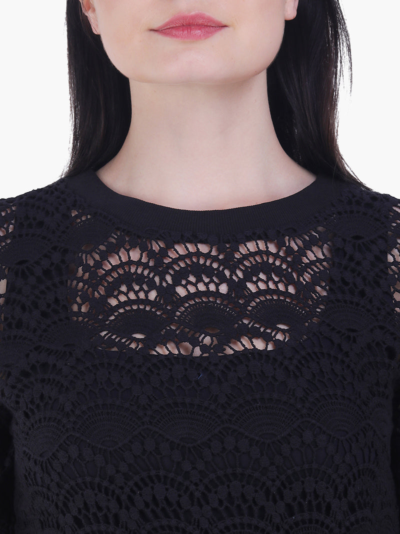 Black Lace  Women Top - MissGudi