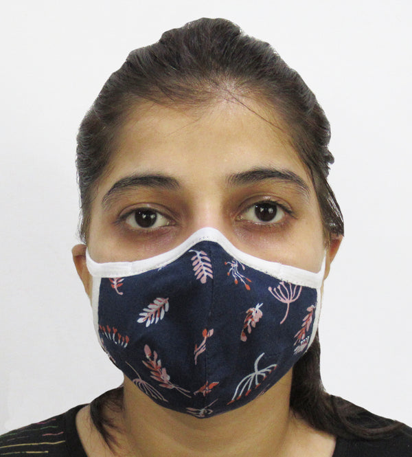 Engineered Woven Fashion Mask with Nose Clip (Pack of 3,5,10 Assorted Colors and prints)