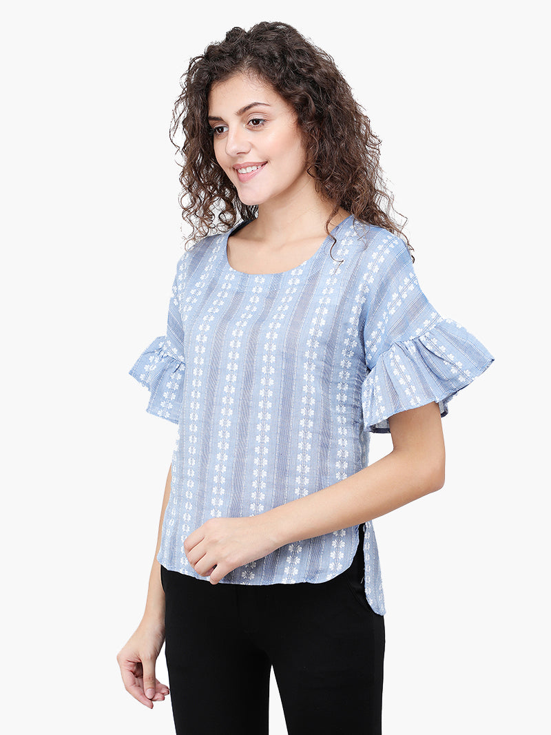 Zuwi Cotton Jacquard Women Top - MissGudi