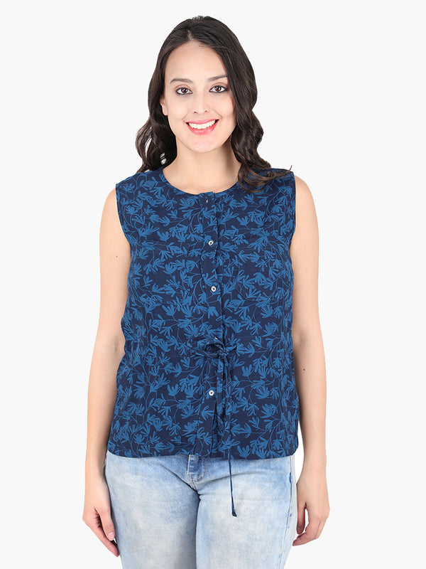 Zuwi Blue Printed Top