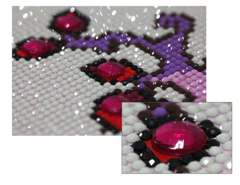 Strass ronds -Kit Broderie Diamant Chouette Mystérieuse