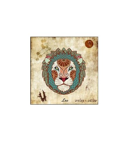 "Kit Broderie Diamant ""Signe du Zodiaque"" - lion"
